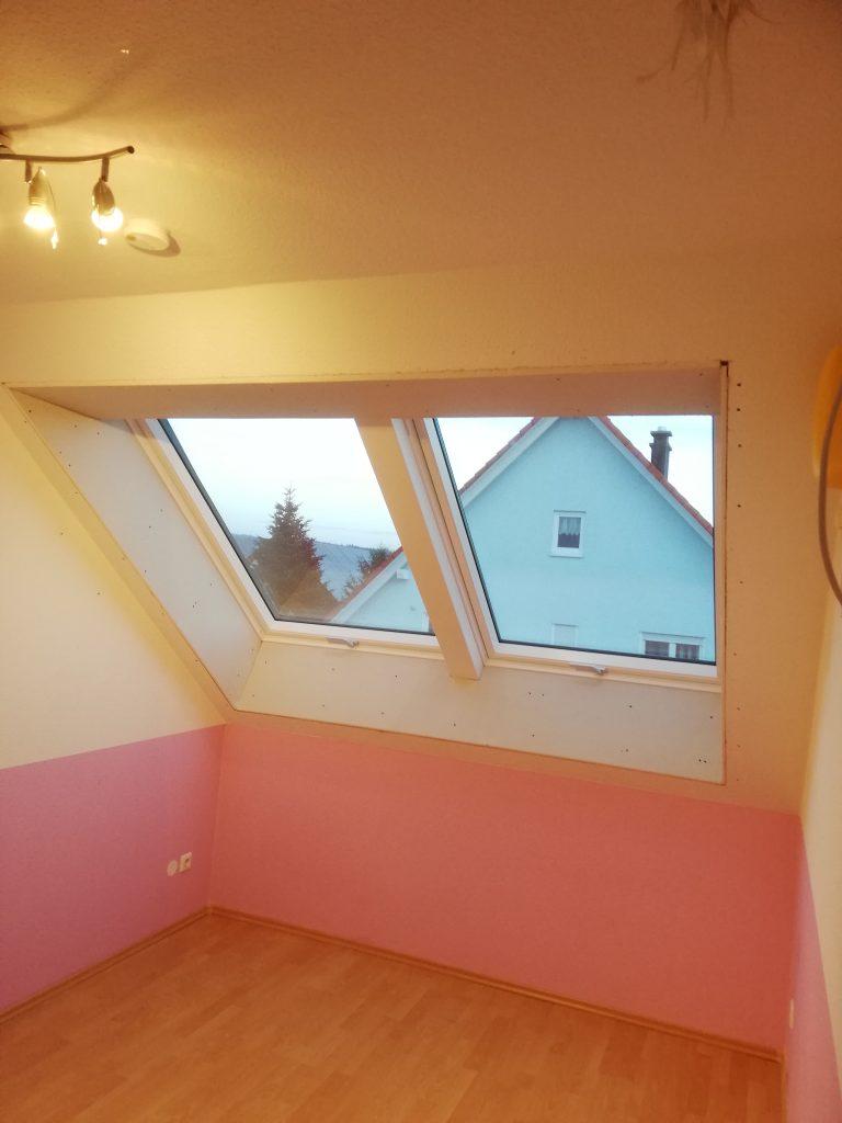 Einbau von zwei Velux Dachfenstern nebeneinander